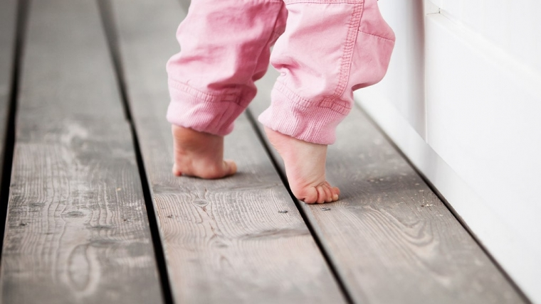Does your child walk on his or her tiptoes?